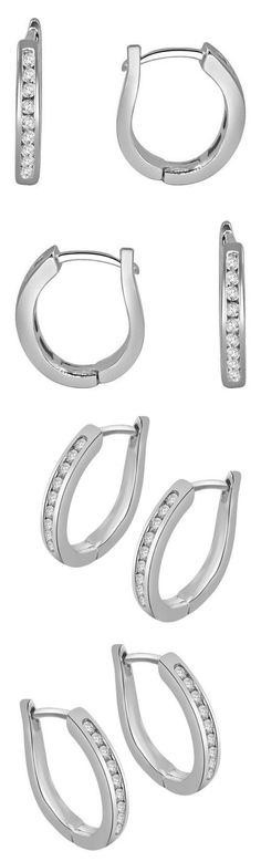 Diamond 10986: Vs1 G Hoops Huggie Earrings 0.20Ct Round Cut Diamond Jewelry 14K Gold 360° Video -> BUY IT NOW ONLY: $222.48 on eBay!