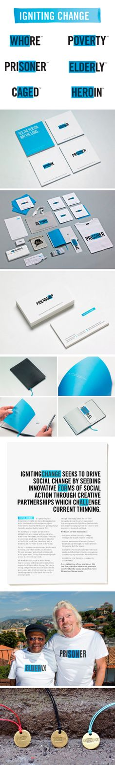 Igniting Change Branding http://www.behance.net/gallery/Igniting-Change/5806501