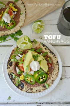 Who doesn't love a savory breakfast loaded with condiments? Our chops are licked for this Scrambled Tofu Rancheros.