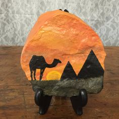 Camel Painted Rock by SonnenblumeCreations on Etsy