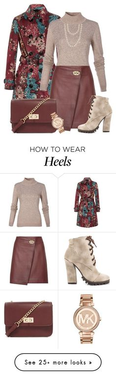 Saia by ebramos on Polyvore featuring Burberry, Reiss, Michael Antonio, Forever 21, Michael Kors and Chanel