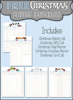 Christmas Planner Printables - Boston mom review blog                                                                                                                                                                                 More