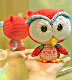 Elidi the Red Baby Owl by amilovers- $4.00 Ravelry