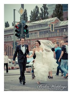 Urban wedding portrait in Berlin