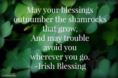 Irish Blessing - LDSBlogs #StPatricksDay #LDSBlogs #Quotes