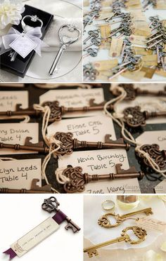 key to heart bottle opener wedding favors