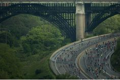 Cyclists get a rare opportunity to ride traffic-free along the Gardiner Expressway and Don Valley Parkway for the Becel Heart & Stroke Ride for Heart. June 2, 2013.
