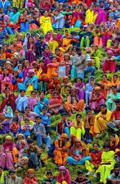 If colors are what you are looking for, don't go any further than India!