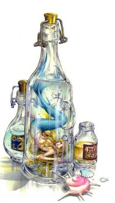Mermaid in bottle