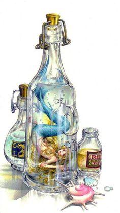 Mermaid in bottle