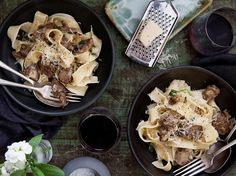 Pappardelle and Creamy Chicken Livers Recipe - Viva