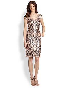 Tadashi Shoji - Sequined Lace Dress - Saks.com