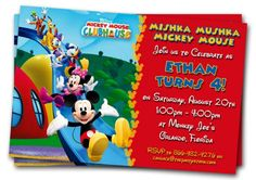 Mickey Mouse Clubhouse Party Invitations with unique party invitation templates 926