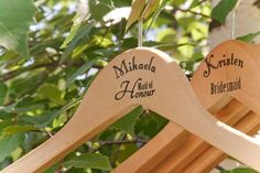 Personalized hangers from lovely designs
