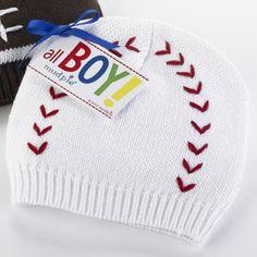 Mud Pie Baseball Knit Hat-mud pie, baseball hat, knit hat, baby, newborn, infant, boy, sports, trendy, baby boutique, baby shower gift