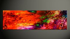 Colorful Abstract Painting Epoxy Resin Art Fluid Acrylic Contemporary Candy Eye Beautiful by pinstriperPL on Etsy