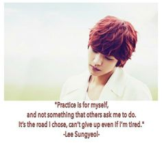 Sungyeol quote - Infinite (2012)