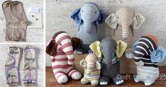 Inšpirujte sa nápadmi mamičiek, ktoré sa rozhodli premeniť ponožky na roztomilých sloníkov. Ponožkový slon, handmade nápad, DIY návod, inšpirácia, šitie