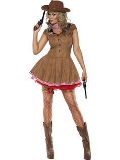 Seksowny strój kowbojki, która z pewnością zrobi wrażenie na wszystkich miłośnikach westernów.