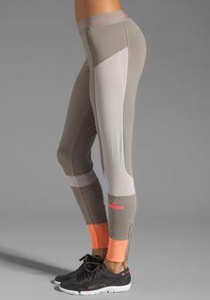 ADIDAS BY STELLA MCCARTNEY Athletic Pant in Grey Feathers/Powder/Ultra Bright - adidas by Stella McCartney