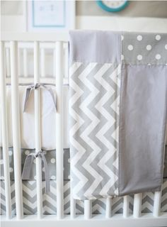 Love the combo of solids with the polka dot and chevron pattern.