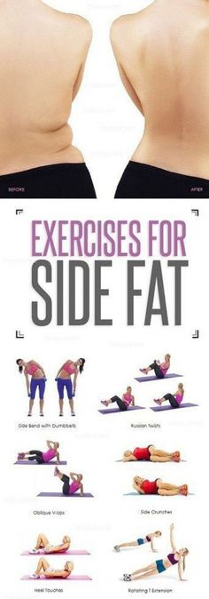 Workout Exercises: 8 Simple and Effective Exercises To Reduce Side Fa... #reducebellyfat #BellyFatReducetips Fitness Workouts, Fitness Motivation, At Home Workouts, Workout Exercises, Workout Routines, Abdominal Exercises, Tummy Exercises, Training Motivation, Weight Exercises