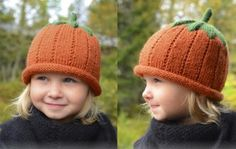 knitted pumpkin hat F2