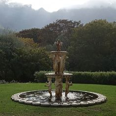Vineyard Hotel. #sopretty #capetown Cape Town, Fountain, Vineyard, Photographs, Outdoor Decor, Instagram, Home Decor, Decoration Home, Room Decor