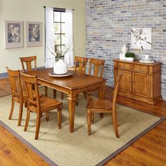 Home Styles Americana 7 Piece Dining Set with Buffet - 500
