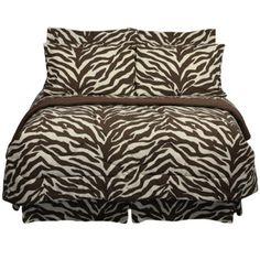 Shop Delectably-Yours.com for Brown Zebra Bedding EZ Bed in Bag Comforter & Sheet Set