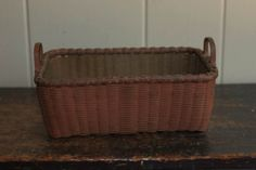Antique Museum Quality Small Shaker Basket Sold Ebay 435.00