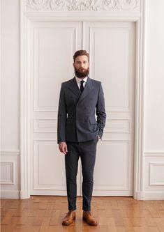 // charcoal + suit