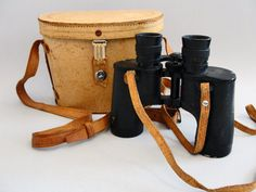Occupied Japan #Binoculars and Leather Case 1940's WWII Emilia OCK 7 x 35 Men's Gift Father's Day