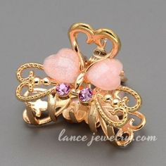 Sweet butterfly model decoration zinc alloy hair claw