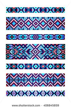 Find Trendy Contemporary Ethnic Seamless Pattern Embroidery stock images in HD and millions of other royalty-free stock photos, illustrations and vectors in the Shutterstock collection. Embroidery Alphabet, Embroidery Shop, Embroidery Patterns, Bead Crochet Patterns, Beading Patterns, Beading Ideas, Beading Tutorials, Embroidery Floss Bracelets, Loom Bracelet Patterns