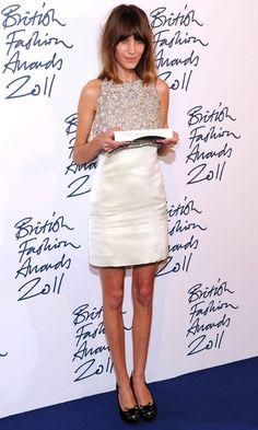 We Love Alexa Chungs Embellished Dress At The British Fashion Awards, November 2011