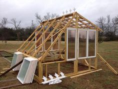 Guy Lays A Bunch Of Old Windows Out On His Lawn Only To Blow Everyone Away A Few Days Later