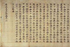 Lotus Pedestal Character Lotus Sutra (Myohorenge-kyo). Kyoto National Museum.