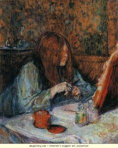 Henri de Toulouse-Lautrec. Madame Poupoule at Her Dressing Table. Olga's Gallery.