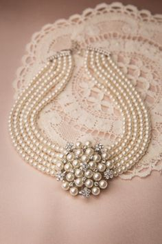 audrey cream pearl necklace