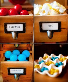 rustic candy bar in library catalogue drawers clever & cute Oh my goodness this is so cute but ive been trying to get my hands on a catalogue for years to no avail, sigh.