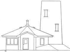 Plans, croquis, 3ds et projets - Superadobe France Small House Kits, Kit Homes, Plans, Backyard, Mirror, Home Decor, Fire, Blue Prints, Sketch
