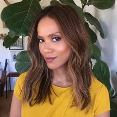 """""""Glam do' #2 on@Lesleyannbrandt today! ⭐️ Hair by me & makeup by @juliannekaye - Watch @luciferonfox tonight on FOX at 9/8 c ✨#lucifer #maze…"""""""
