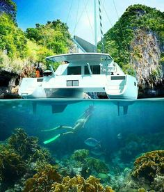 Yacht Charter with Captain and Crew or Bareboat Yacht Rental with Skipper. Luxury Yacht Vacations on ✓ Sailboat Hire ✓ Motoryacht ✓ Catamaran ▷ over 16000 boats Catamaran Design, Sailing Catamaran, Yacht Boat, Sailboat Yacht, Ocean Sailing, Ocean Beach, Sailboat Living, Sailing Holidays, Cool Boats