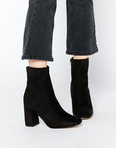 Image 1 ofTruffle Collection Harp Square Toe Heeled Ankle Boots