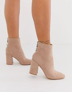 Buy London Rebel high block heel boots in mink at ASOS. With free delivery and return options (Ts&Cs apply), online shopping has never been so easy. Get the latest trends with ASOS now. Block Heel Boots, High Heel Boots, Block Heels, Ankle Boot Heels, Boots With Heels, Cute Heels, Cute Boots, Asos, Look Chic