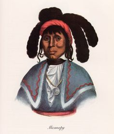 Florida - Chief Micanopy,by Charles Bird King, 1825 painting - He encouraged intermarriage between the Seminole and blacks. He refused to sign the treaty of Payne's Landing in 1832; cession of more Seminole lands in exchange for reservations in the Indian Territory (present-day Oklahoma) He is reported to have killed Major Dade in the ambush - only three soldiers survived what the Americans called Dade's Massacre, beginning of the Second Seminole War 1835.  He surrendered in June 1837…