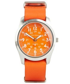Orange Neon Colour Block Wristwatch, TOKYObay. Shop the latest watches from the TOKYObay collection online at Liberty.co.uk