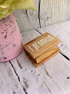 i promise Ring Box Wedding Ring Bearer Box by DownInTheBoondocks, $14.00