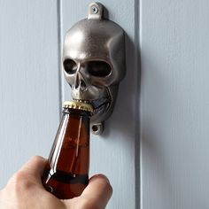 Novelty Wall-Mounted Bottle Opener, Skull from Williams Sonoma. Saved to Home. Shop more products from Williams Sonoma on Wanelo. Goth Home Decor, Home Bar Decor, Gypsy Decor, Halloween Skull, Halloween Party Decor, Halloween 2016, Halloween Plates, Halloween Baking, Halloween Table